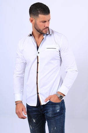 chemise homme blanche  20282