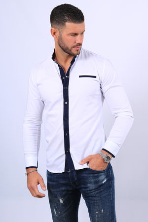 chemise homme  blanche  20287