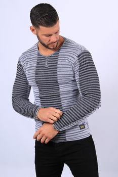 Pull homme gris 52111