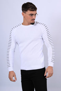Pull homme blanc JH01