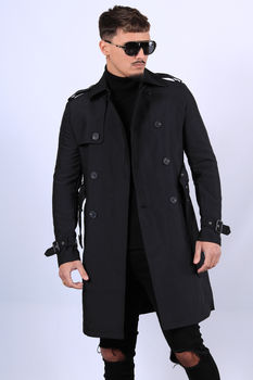 Trench homme noir HP035