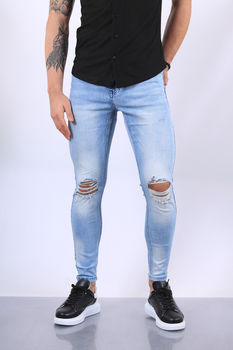 Jeans homme bleu clair skinny 302