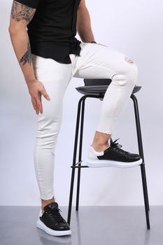 Jeans homme blanc skinny 215