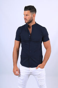 Chemise manches courtes navy mao 061