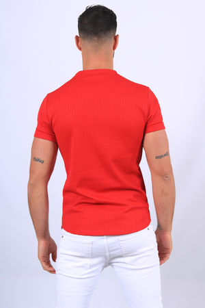 T-shirt homme oversize rouge 758