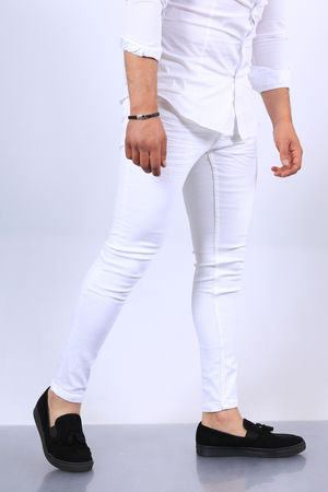 Jeans homme blanc  502