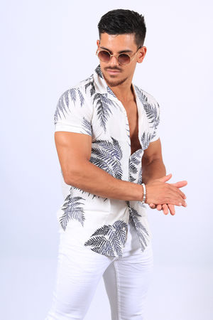 chemise homme fluide blanche 5162