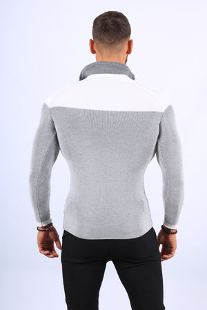 Pull  homme blanc col montant 2200