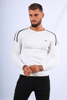 Pull  homme blanc stylé 2673
