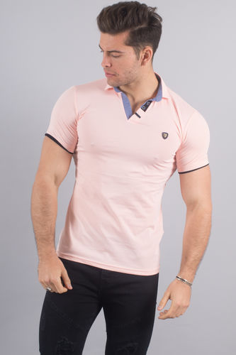 Polo homme rose 4983