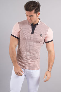 Polo homme rose 8151