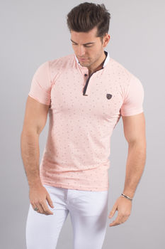 Polo homme rose 8269