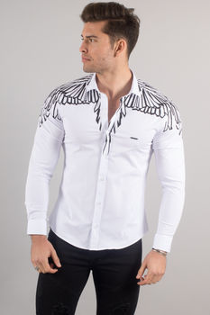 chemise italienne homme classe blanche 3350
