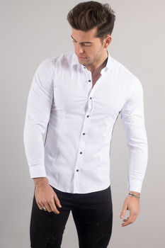 chemise italienne homme blanche 3320