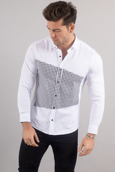 chemise italienne homme blanche 3370