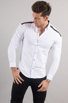 chemise italienne homme blanche 3300
