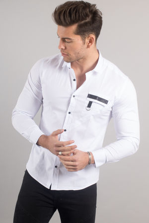 chemise italienne homme blanche 3395