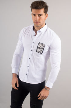 chemise italienne homme blanche 3425