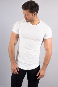 T-shirt homme oversize blanc 1831