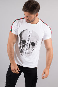 T-shirt homme strass blanc 2004