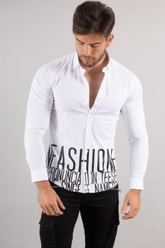 chemise italienne homme classe blanche 3365