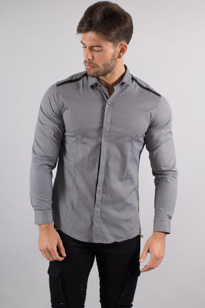 chemise italienne homme gris 3400