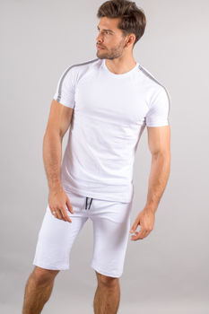 Ensemble homme  t-shirt + short blanc 605