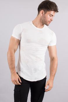 T-shirt homme oversize blanc 1882