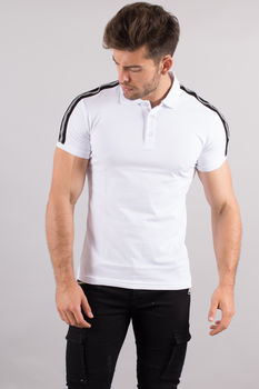 polo homme blanc F101