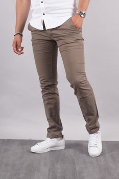 Chino homme marron  5660 F