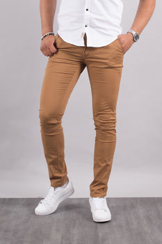 Chino homme marron  5710 H