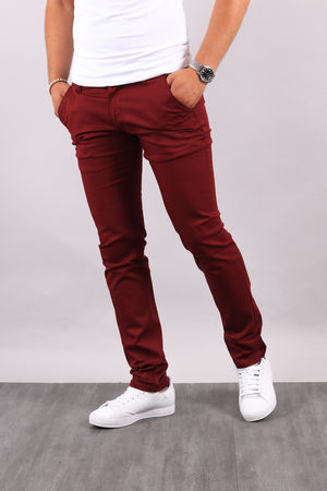 Chino  homme bordeaux 3336