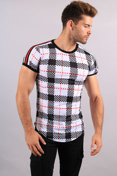 T-shirt homme carreaux  18120