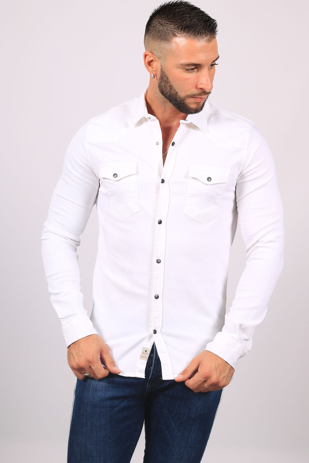 Chemise Homme 5109 Blanc 5109 Jeans Blanc Homme Jeans Chemise Chemise DH9eY2WIbE