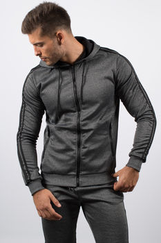ensemble jogging  gris chiné RJ008