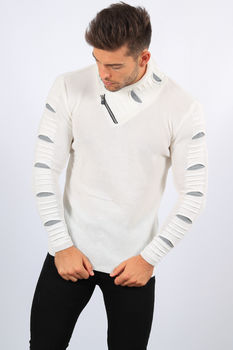 pull homme blanc Jackson