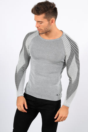 pull homme écru gris willy