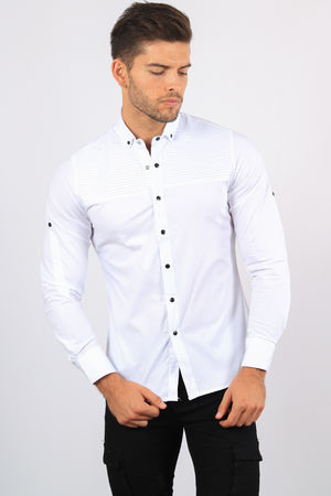chemise homme blanche 6177