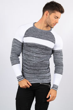 pull homme gris CE 3253