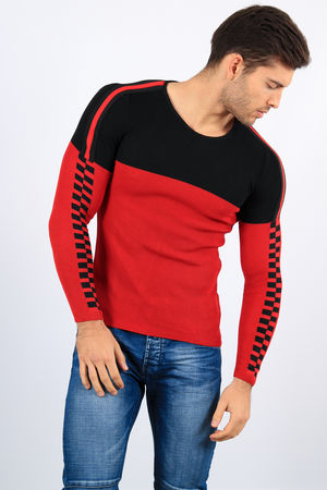 pull homme rouge 2199