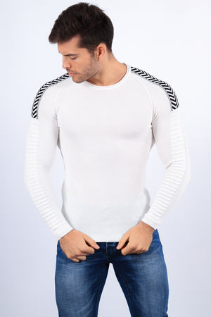 pull homme blanc 2211