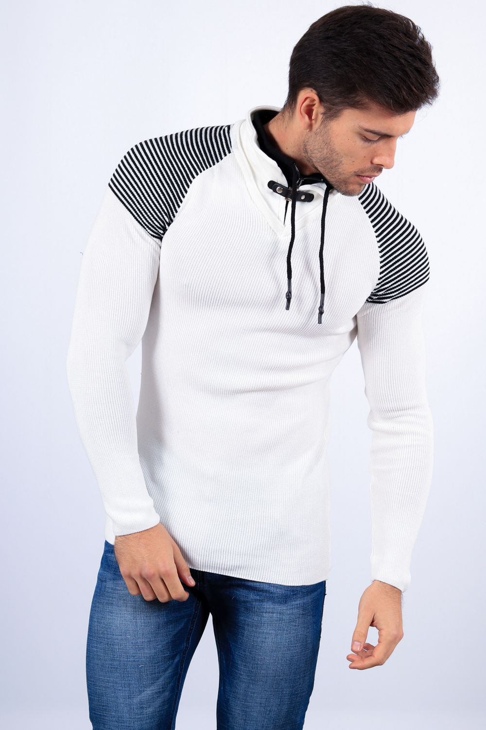 pull homme blanc 1413 46d47e9013f6