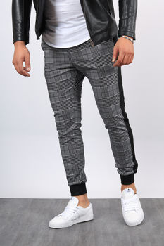 Pantalon  homme à carreaux Black/B  2283