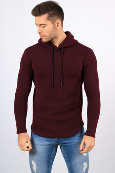 Sweat homme à capuche  bordeaux 319