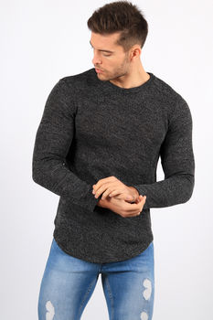 Sweat homme noir chiné 326