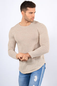 Sweat homme beige chiné 326