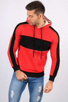 Sweat  à capuche homme rouge 998