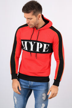 Sweat  à capuche homme rouge 998-1