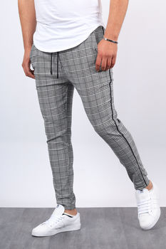 Pantalon à carreaux bande  3310