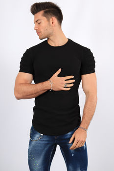 T-shirt homme noir  up82